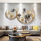 WJQQ 3D Wanddeko Metall, Wandschmuck, Wanddeko, Wandverzierung, Dekoration Ginkgo, Garten Wohnzimmer, Schlafzimmer, Esszimmer Wohnk