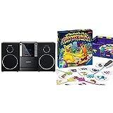 Grundig GLR5150 MS 240 Design Micro Anlage & Ravensburger Kinderspiel Monsterstarker Glibber-Klatsch, Gesellschafts- und Familienspiel, für Kinder und Erwachsene, für 2-4 Spieler, ab 5 Jahren