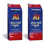 ILODA 2X 500ml Dr. Wack A1 Polish & Wax, Autopolitur + Wachs für alle Lacke mit Carnauba, Politur für Auto mit Lackschutz und Wachs- Lackversiegelung