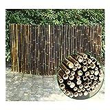 RUIXFHA Bambuszaun Natürlicher Sichtschutz Ungefärbt Langlebig Und Wetterfest Geeignet Für Den Innenbereich, überlappende Holzzaunplatten, Brown, 1.2x2m