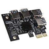KOLINK PCI-E 1x auf Quad 16 x Quad Mining/Upgrade Kryptowährung Bitcoin GPU Adapter Computerzubehör Anschluss Motherboard Vertikal Grafikkarte Graphics Cards Halter H