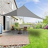 XKMY Sonnensegel für den Außenbereich, wasserdicht, 4 x 4 x 4 m, Grau