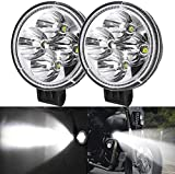 Motorrad-Nebelscheinwerfer, 2 Stück, 12 W, rundes LED-Fahrlicht, Zusatz-Nebelscheinwerfer, LED-Strahler für Off-Road-Motorräder, ATV, UTV, 4 x 4, SUV, LKW, Traktor, Boot