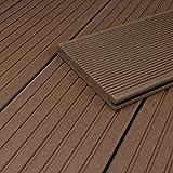 HORI® WPC-Terrassendiele Massiv I Vollprofil I Braun I Dielenlänge: 500 cm