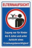 WERBEPUNKT. Schild Elternaufsicht Hallenbad Freibad Kinder Gefahr Hinweis 3 mm Alu-Verbund 450 x 300 mm