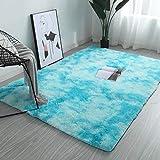 MENEFBS Flauschiger Wohnzimmer-Teppich, rutschfest, für Schlafzimmer, weich und gemütlich, zottelig, für Kinderzimmer, rutschfest, 80 x 200 cm