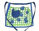 Betz Halbschürze Schürze Kochschürze Küchenschürze Motiv Brombeere blau 100% Baumwolle