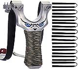 CAOYI Steinschleuder Zwille, Schleuder Profi für Jagd Sportschleuder Slingshot Katschi Jagd-Katapult Spielzeug mit 10 Stück Gummib