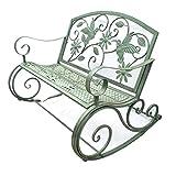 Household items Outdoor-Schaukelstuhl Terrassen-Doppelbänke, Gartenschaukelstuhl Gartenschaukelmöbel aus Metall, Verandabank Loungesessel mit Rückenlehne, Wetterfester Schaukelsessel