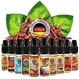 Riccardo E-Liquid Probierset New Firecastle Tabak, Juice für e-Zigarette, 0 mg Nikotin, 10 x 10 ml, 100 ml