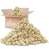 grillas Bio-Kaminanzünder und Grillanzünder 10 kg aus Holzwolle, in Wachs getränkt | Kohleanzünder | Wachsanzünder | Anzündwolle | Anzündhilfe | ohne Rück