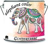 elephant color Glitzerfarbe Latexfarbe Dispersionsfarbe Innenwandfarbe Glitzerfarbe Glitterwandfarbe Glitter Wandfarbe (1 l, Schwarz - Gold Glitzer)