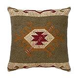Handicraft Bazarr Quaste getuftet Kelim Wolle Jute Kissen Textil Kissenbezug Zottelkissen Bohemian Traditionelle Sham Rustikale Raumdekoration Kissenbezug von Amazon (1)