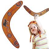 N/4 Hölzerner Bumerang Im Freien Bumerang Handarbeit Hölzernes Fliegender Bumerang Boomerang zum Werfen Boomerang Stabile Hölzerne V-Förmige Bumerang aus Holz Umweltfreundlich Kinder und Erwachsene