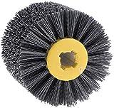 Yikko Nylonbürste Drahtziehrad Pinsel Polieren Polierscheibe Körnung, 80/120/180/240 Körnung für Holz Bürsten Maschine, Satiniermaschine (180 körnung)