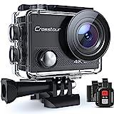Action Cam, 4K/30FPS Wasserdicht 40M 4K Unterwasserkamera CT9000 (WiFi Helmkamera Fernbedienung und 2 Akkus)