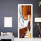 DFKJ Kreative Architekturlandschaft Türaufkleber Zimmertür Poster Renovierung Selbstklebend Aufzug Schlafzimmertür Feuchtigkeitsbeständig A16 77x200cm