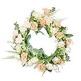 Keebgyy Hochzeitsgirlande, Blumenkranz, künstliche Blumen, Heimdekoration, Wanddekoration.