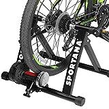 Sportana Home Trainer Rollentrainer 6 Gänge Schaltung Magnet Fahrradtrainer Heimtrainer 150kg 26-28' Indoor Cycling