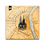 DStern Design MER SIN KÖLSCHE Köln-Untersetzer aus stabilem Echtglas | Köln | Cologne | Glas-Untersetzer | Köln-Geschenk Quadratisch (10cm x 10cm)