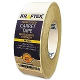 Teppichklebeband – 27m Rolle für Teppiche, Fußmatten, Teppichunterlagen & Stufenmatten – doppelseitiges Klebeband mit Anti-Rutsch-Technologie – ideal für z.B. Hartholz, Fliesen & Laminatb
