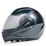 SJAPEX Klapphelm Integralhelm Motorrad Helm ECE Zertifizierter Quad Damen Herren Roller Gesichtsschutz Erwachsene Regenschutz Sturzhelm Motorradhelm Moped Mofa F,XL=57~60cm