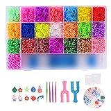 FORMIZON 4400 DIY Gummibänder Set, Bunt Starter Box, DIY Gummibänder und Haken, Bunt Loombänder für Armbänder, Kinderspielzeug für Geburtstagsgeschenk, Weihnachten