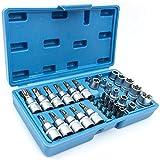 Außen Torx Innentorx Nüsse Steckschlüssel Satz Bits Werkzeug Set 34-tlg SN1834