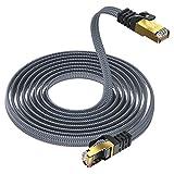 5m Cat8 Netzwerkkabel-Lan Kabel,Yurnero Flach 40Gbits/2000MHz Gigabit Ethernet Patchkabel RJ45 kabel,Kompatibles Cat 6/Cat 7,Geeignet für Intelligentes Zuhause/Router/Modems/Switches