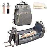 3-in-1 Umwandelbare Baby-Wickelunterlage, Reisetasche, tragbar, mit Kinderwagengurten, Kleinkind-Org