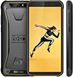 Blackview BV5500 Outdoor Smartphone ohne Vertrag Günstig - 5.5 Zoll (13.9cm) HD Display, 4400mAh Akku, 2GB/16GB 32GB erweiterbar, 8MP+0.3MP & 5MP, Dual SIM Handy - Face ID/OTG/GPS -Gelb