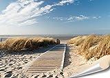 PMP 4life. XXL Poster Nordsee Strand Langeoog   140x100cm   hochauflösendes Wand-Bild, Natur Poster extra groß, XL Fotoposter   Wand-deko Bild Meer Küste Düne Landschaft