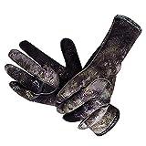 YONGJINGN Neopren-Handschuhe Isolierte rutschfeste Abriebfeste Taucherhandschuhe Für Männer Und Frauen Zum Schwimmen Ackpacking Surfen Und Angeln(Size:M,Color:Grün)