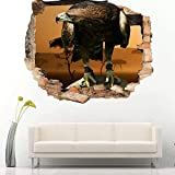 Wandtattoos Aufkleber Eagle Bird Cool Schlafzimmer Kinderzimmer Vinyl Aufkleber 3D Art Decal Wandbild Poster 60x90
