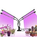 WSZOK Pflanzenlampe LED wachsen Lichter, Vollspektrum Pflanze wachsen Licht, 4 Köpfe wachsen Lampe mit Timer 360 ° einstellbar für Pflanzen Sämlinge Blumen Indoor Grow Box