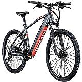 Zündapp Z808 E-Bike 27,5 Zoll E-Mountainbike Fahrrad EMTB Hardtail 650B Pedelec Fahrrad Elektrofahrrad (schwarz/rot, 48 cm)