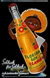 Kilburn Florida Orange Boy Retro Creative Wall Decoration Personality Trend Background Simple Style Iron Painting