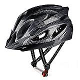 RaMokey Fahrradhelm für Erwachsene Herren Damen, EPS-Körper + PC-Schale, MTB Mountainbike Helm mit Abnehmbarem Visier und Polsterung, Verstellbar Radhelm 57-63cm (Schwarz)