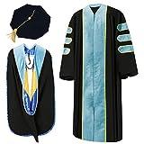 GraduatePro Abschluss Talar und Hut PHD Doktor Robe für Doktorandenkleid Abschlusskleid Fakultät Professor Regalia Herren Damen
