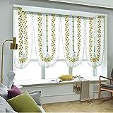 HOOJUEAN Raffrollo Blumen Voile Raffgardine Transparent Gardine Vorhang Schlaufenschal Deko für Schlafzimmer Studierzimmer 80 x 200cm - Eine Vielzahl von Farben zur Auswah