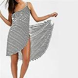 A1-Brave Badetuch Badetuch Bademantel Gestreiftes Strand Kleid Schnelle Trockenverpackung Frauen Badetücher Sling Kleidung Gewand (Color : White, Size : X-Large)