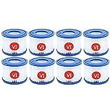 ADTT Ersatzpatrone für Bestway Spa Filterpumpe, Typ VI, für Miami, Whirlpool-Filter, für Vegas, für Monaco. (8er-Pack)