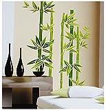 alles-meine.de GmbH Wandtattoo / Sticker -  Bambus Strauch  - Wandsticker - Aufkleber Wandaufkleber - selbstklebend für Kinderzimmer und Wohnzimmer Deko - Indonesien / W
