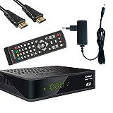 EDISION proton T265 LED DVB-T2 HD H.265 HEVC Full HD Hybrid FTA Receiver HDTV DVB-T2/DVB-C inkl. HDMI Kabel
