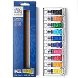 Winsor & Newton 390664 Cotman Aquarellfarben Set, Mehrfarbig, 10 Farben Starterset