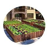 JIANFEI-weilan Gartenzaun Steckzaun, Klein Garten Massivholz Gras Zaun Zum DIY Park Pfad Terrasse Dekoration, Skalierbar, 2 Stile (Size : B-120X35/40CM)