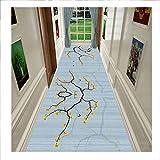 Läufer Teppiche Flur, Waschbar Innen rutschfeste Matte Sanft Dauerhaft Kanten Cuttable Zum Küche Bad Eingang, Stapel 0,6 cm,Multi Colored,1.2 * 3