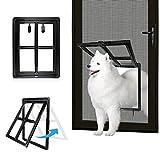 Namsan Hundeklappen Katzenklappe für Fliegengittertür Einfach zu Installieren Abschließbar Innengröße 40 cm x 30 cm