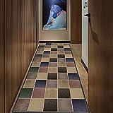 Goodming Teppichläufer Meterware 120x100cm, Saugfähig Küchenläufer, Schwer entzündlich, Trittschalldämmend, Leicht zu reinigen, für Moderner Wohnteppich für Flur, Küche, S