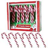 Becky´s 12 Zuckerstangen - Candy Canes - Erdbeergeschmack, rot weiß - 12 Stück, je 12 g
